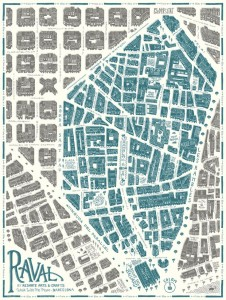 A map of the Raval by Reskate Studio 2016